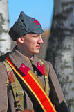 Russian soldier-reenactor Royalty Free Stock Photos