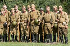 Russian soldiers. Royalty Free Stock Image