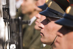 Russian soldiers Royalty Free Stock Photography