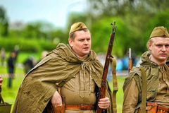 Russian soldiers. Royalty Free Stock Photography