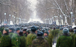 Russian soldiers Royalty Free Stock Image