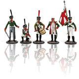 Russian soldiers Napoleonic Royalty Free Stock Image