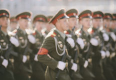 Russian soldiers at the parade Stock Image