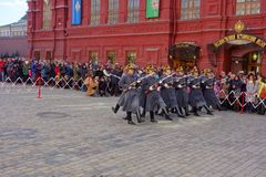 Russian soldiers Royalty Free Stock Photo