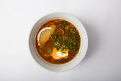 Russian solyanka soup Stock Photography
