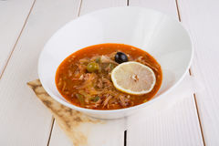 Russian solyanka soup Stock Images