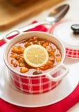 Russian soup - solyanka. Stock Image