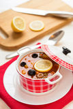 Russian soup - solyanka. Royalty Free Stock Photos