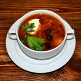 Russian soup Solyanka Royalty Free Stock Photography