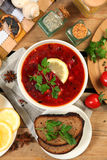 Russian soup Royalty Free Stock Photos
