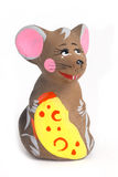 Russian souvenir clay Mouse Royalty Free Stock Image