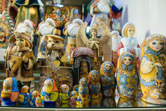 Russian souvenir dolls Stock Images