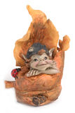 Russian souvenir - Gnome in tree Royalty Free Stock Image