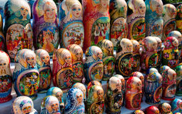 Russian  souvenir - matryoshka. Russian national souvenir - matryoshka, wood Royalty Free Stock Images