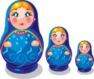 Russian souvenir nested doll Royalty Free Stock Image