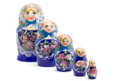 Russian souvenir on white Stock Photo