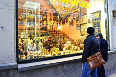 Russian souvenirs. In the centre of Moscow Stock Image