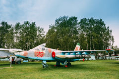 Russian Soviet Armoured Subsonic Attack Aircraft Fighter-bomber Stock Photography