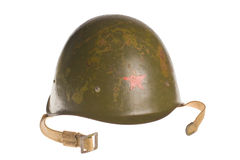 Russian Soviet army helmet world war. Stock Images