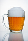 Russian Soviet beer mug. With condensation. Russian Soviet beer mug. In the droplets of condensate and foam cap. Such beer mugs were all pubs Soviet Union Royalty Free Stock Photography