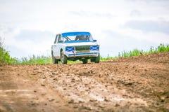 Russian soviet rally car ready-to-go Stock Image