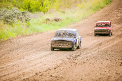 Russian soviet rally cars competition Stock Images