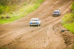 Russian soviet rally cars Royalty Free Stock Image