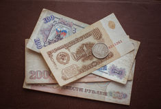 Russian Soviet ruble Stock Photos