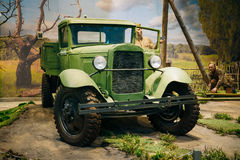 Russian Soviet truck GAZ AA In The Belarusian Stock Photography
