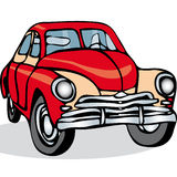 Russian Soviet vintage car on a white background. Vector. Stock Photo