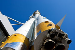 The Russian space rocket. The Russian space transport rocket. A museum piece. Samara. Russia Royalty Free Stock Photos