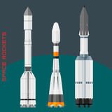 Russian space rockets set Stock Images