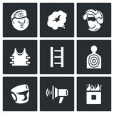 Russian special forces icons set. Vector Illustration. Royalty Free Stock Photos