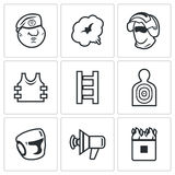 Russian special forces icons set. Vector Illustration. Stock Images