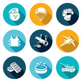Russian Special Forces Icons Set. Vector Royalty Free Stock Photo