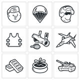 Russian Special Forces Icons. Vector Illustration. Royalty Free Stock Images