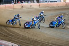 Russian speedway championship among Russian teams stock image