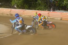 Russian speedway championship among Russian teams royalty free stock images
