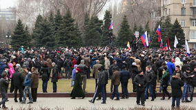 Russian spring. Peaceful rally against the Nazis stock footage