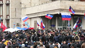Russian spring. Peaceful rally against the Nazis. Full HD stock video