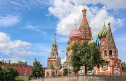Moscow St. Basil`s Cathedral stock images