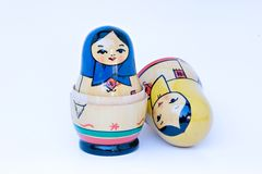 Russian stacking dolls Stock Photography