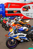Russian stage of the Superbike World Championship, on July 21, 2013, in Moscow Raceway, Moscow, Russia. Royalty Free Stock Photography