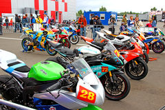 Russian stage of the Superbike World Championship, on July 21, 2013, in Moscow Raceway, Moscow, Russia. Stock Photos