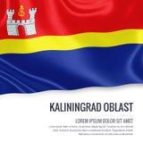 Russian state Kaliningrad Oblast flag. Royalty Free Stock Photography