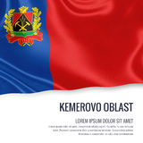 Russian state Kemerovo Oblast flag. Royalty Free Stock Images