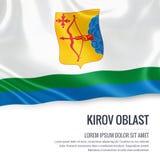 Russian state Kirov Oblast flag. Royalty Free Stock Photo