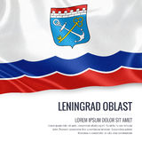 Russian state Leningrad Oblast flag. Stock Images