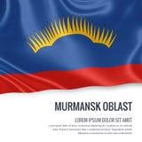 Russian state Murmansk Oblast flag. Stock Image