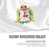 Russian state Nizhny Novgorod Oblast flag. Stock Photo